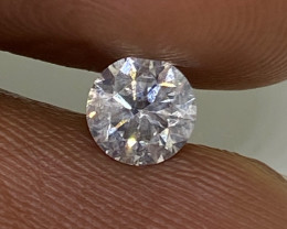 (9) Cert $980 Beautiful 0.54cts SI2 Nat White Round Loose Diamond