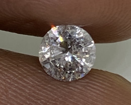 (10) Cert $907 Gorgoeus 0.50cts SI2. Nat White Round Loose Diamond