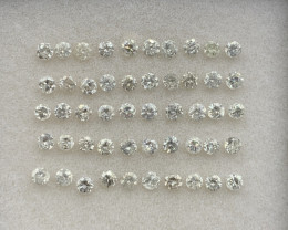 2.30 ct Diamond Gemstones Parcel/ 50 pc / 0.05 pointers