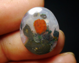 11.05 CT UNTREATED Beautiful Indonesian Moss Agate Picture