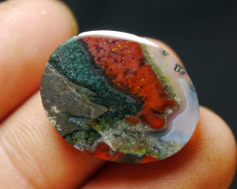16.10 CT UNTREATED Beautiful Indonesian Moss Agate Picture
