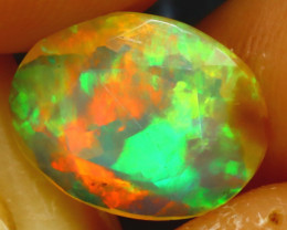 Welo Opal 1.28Ct Natural Ethiopian Play of Color Opal EF1811/A3