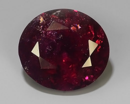 12.15 CTS SPARKLING NATURAL DARK PINK TOURMALINE OVAL MOZAMBIQUE GEM!!