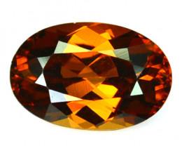 ~BRILLIANT~ 2.42 Cts Natural Imperial Orange Zircon Oval Cut Tanzania