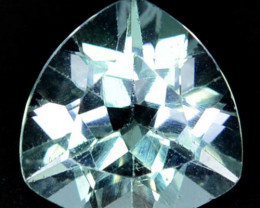 Unheated!!  2.89 Cts Natural White Topaz 9mm Trillion Cut Brazil