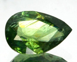 ~UNHEATED~ 0.67 Cts Natural Beautiful Green Sapphire Pear Cut Madagascar