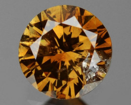 0.11 Cts Untreated Fancy Natural Loose Champagne Diamond