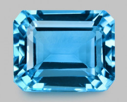 16.76 Cts Super Swiss Blue Natural Topaz Gemstones