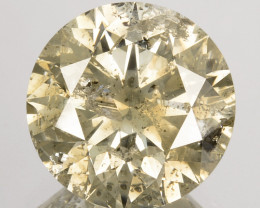 3.13Ct Natural Yellowish 9mm white diamond Africa