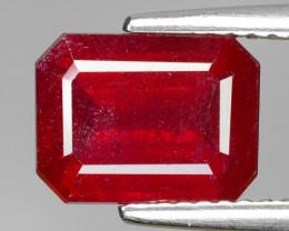 3.87 Cts Pinkish Red Natural Ruby BURMA  Loose Gemstone