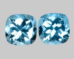 12.59 Carat 2pcs  Blue Natural Topaz Gemstones