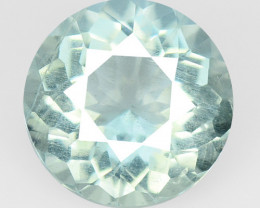 2.56 Cts Un Heated Blue Natural Aquamarine Loose Gemstone