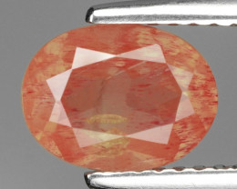 1.38 Cts Amazing Rare Natural Red Color Andesine