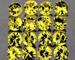 1.60 mm Round 45 pcs 0.97ct Canary Yellow Sapphire [VVS}