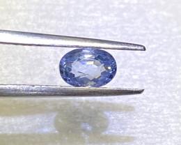 1ct clean unheated blue sapphire