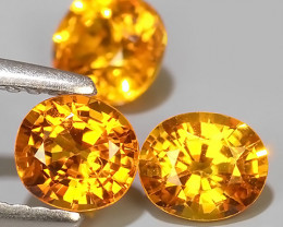 1.95 CTS~AWESOME NICE ORANGEISH-YELLOW SAPPHIRE FACET GENUINE~