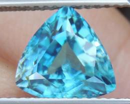 3.69cts Blue Zircon from Cambodia