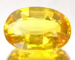 1.35 Cts Natural Sapphire Canary Yellow Oval Cut Madagascar