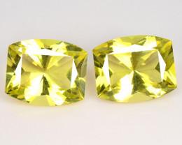 9.63 Cts 2 Pcs Natural Lemon Quartz Gemstonestone
