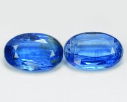 3.43 Cts 2 Pcs Fancy Royal Blue Color Natural Kyanite Gemstones