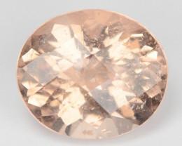 3.34 Cts Amazing Rare Natural Pink Color Morganite Gemstone