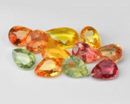 2.07 Carat 11 Pcs Very Rare Fancy Color Natural Sapphire Loose Gemstones
