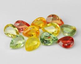 2.03 Carat 11 Pcs Very Rare Fancy Color Natural Sapphire Loose Gemstones