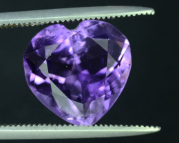 Lovely Heart Shape 6.67 ct Attractive  Amethyst
