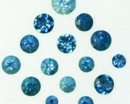 3.16Ct Natural Aquamarine Round parcel 5mm