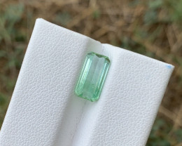 2.20 carats Greenish colour Tourmaline Gemstone From Afghanistan