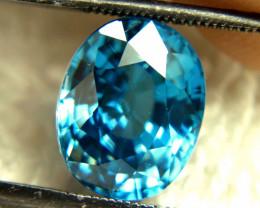 CERTIFIED - 8.10 Carat VVS1 London Blue Zircon - Gorgeous