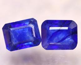 Ceylon Sapphire 3.87Ct 2Pcs Royal Blue Sapphire E2003/A23