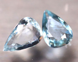 Aquamarine 1.95Ct 2Pcs Natural Light Blue Aquamarine E2005/B42
