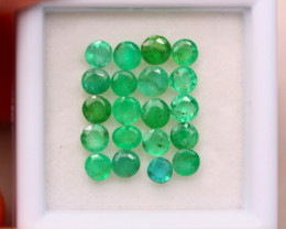 2.86ct Natural Zambia Green Emerald Round Cut Lot V7957