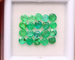 2.59ct Natural Zambia Green Emerald Round Cut Lot V7960