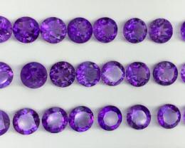 60.81 Ct Amethyst Gemstone Parcel/24 pc