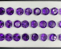 59.02 Ct Amethyst Gemstone parcel/ 24 pc
