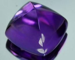 11.38 Cts Natural Purple Amethyst Sugar loaf Bolivia Gem
