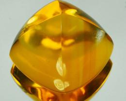 18.85Cts Natural Golden Orange Citrine 15mm Sugar Loaf Brazil