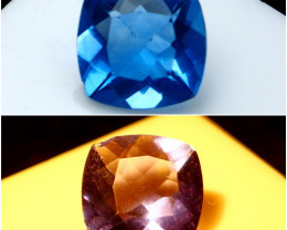 NR!!! 2.30 CTs Natural - Unheated Color Change Blue Fluorite Gemstone