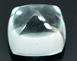 Rare! 21.73Ct Natural White Topaz  14mm Sugar Loaf Flawless
