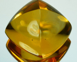 19.41Cts Natural Golden Orange Citrine 15mm Sugar Loaf Brazil