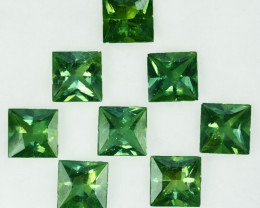 12.45Cts Natural Green Apatite Square 6.50mm Parcel