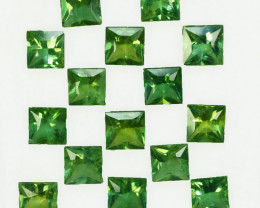 16.01Cts Natural Green Apatite Square 6.00mm Parcel
