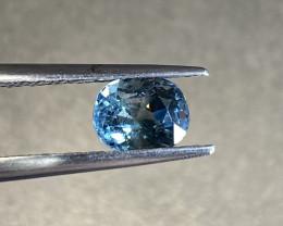 1.28ct unheated Teal Blue Sapphire