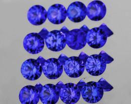 2.00 mm Round 20 pcs 0.77ct Purple Blue Sapphire [VVS}