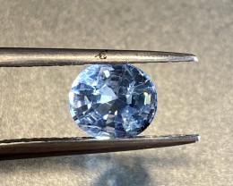 1.66ct unheated blue sapphire