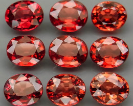 11.76Ct./9Pcs Natural Earth Mined Red Rhodolite Garnet Africa