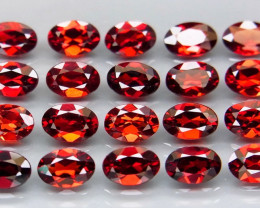 10.34 ct. Natural Earth Mined Red Rhodolite Garnet Africa - 20 Pcs