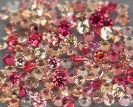 3.02Ct./ 120 Pcs Diamond Cut 1.5 mm. Fancy Color Natural Sapphire